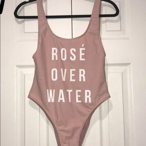 Hot Kiss Swim - Rose Over Water One Piece Bathing Suit